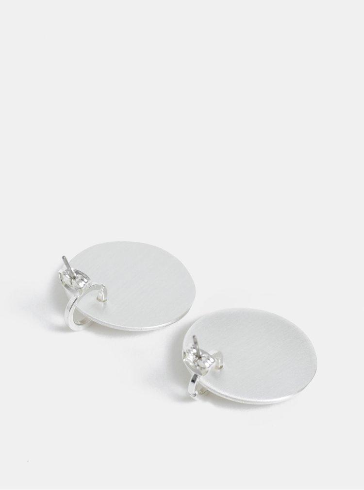 Kulaté náušnice ve stříbrné barvě Pieces Dariana