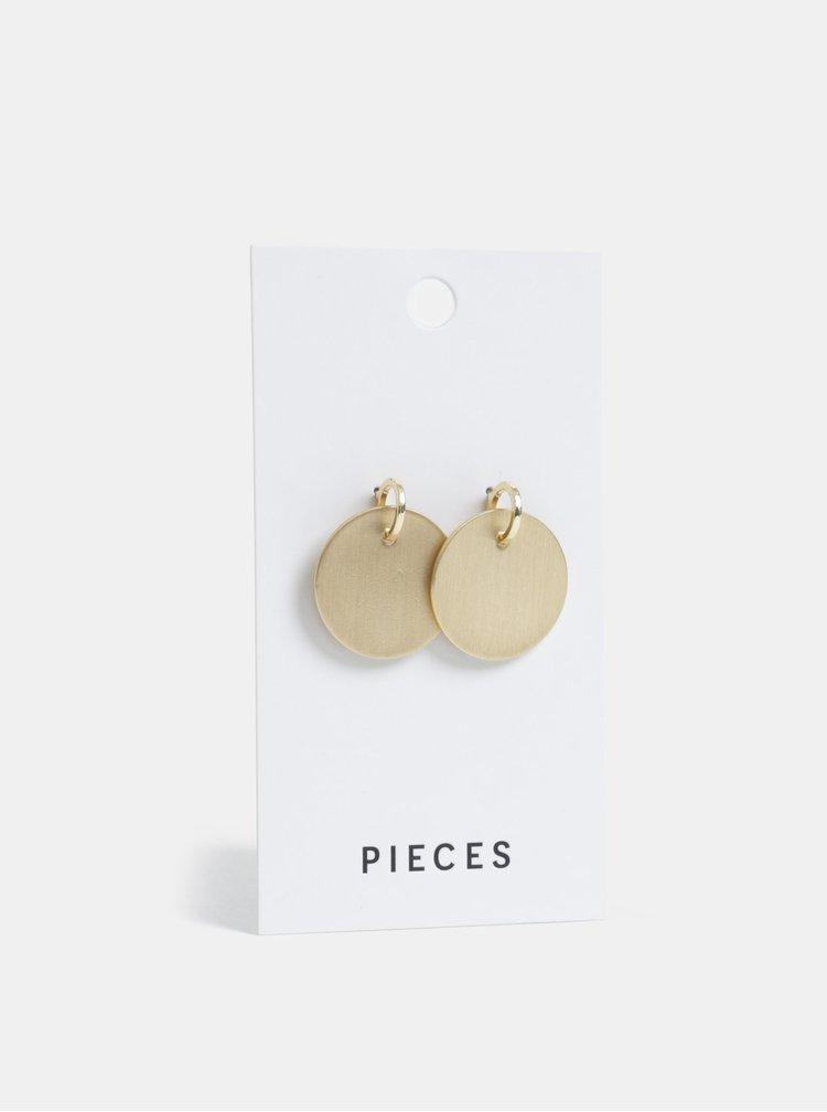 Kulaté náušnice ve zlaté barvě Pieces Dariana
