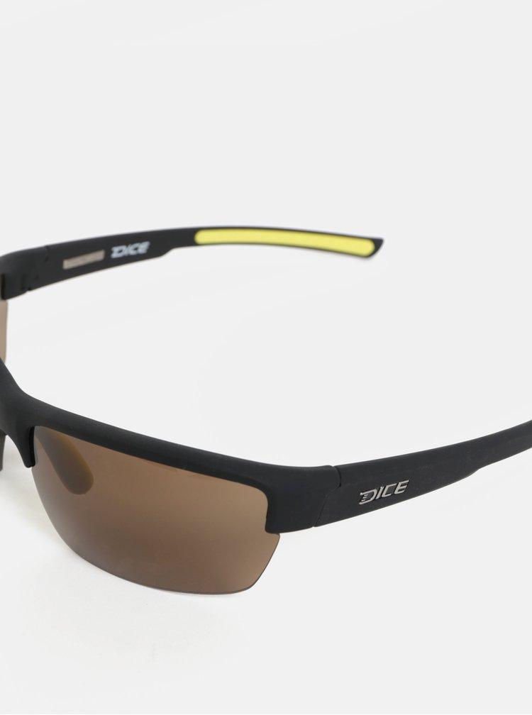 Žluto-černé pánské sluneční brýle Dice Sport