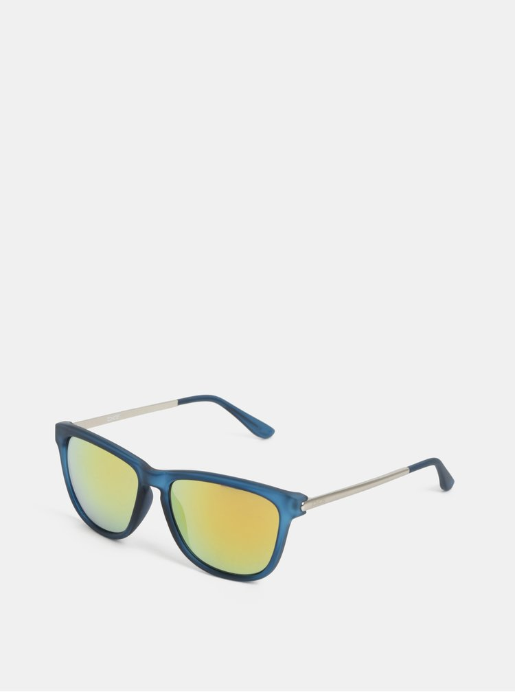 Ochelari de soare barbatesti albastri cu lentile oglinda Dice