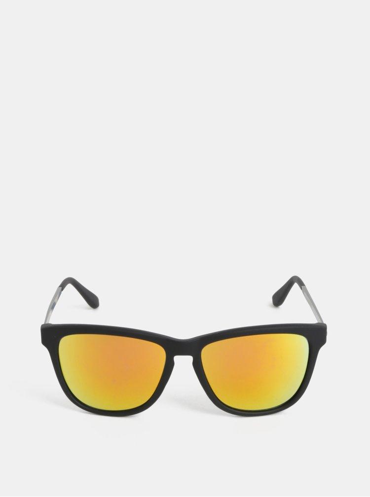 Černé pánské sluneční brýle se zrcadlovými skly Dice