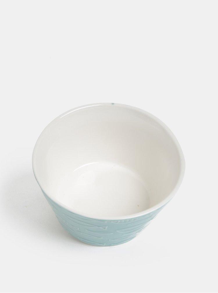 Modrá vzorovaná miska Dakls
