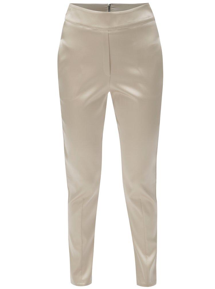 Béžové kalhoty s příměsí hedvábí Alexandra Ghiorghie Soran