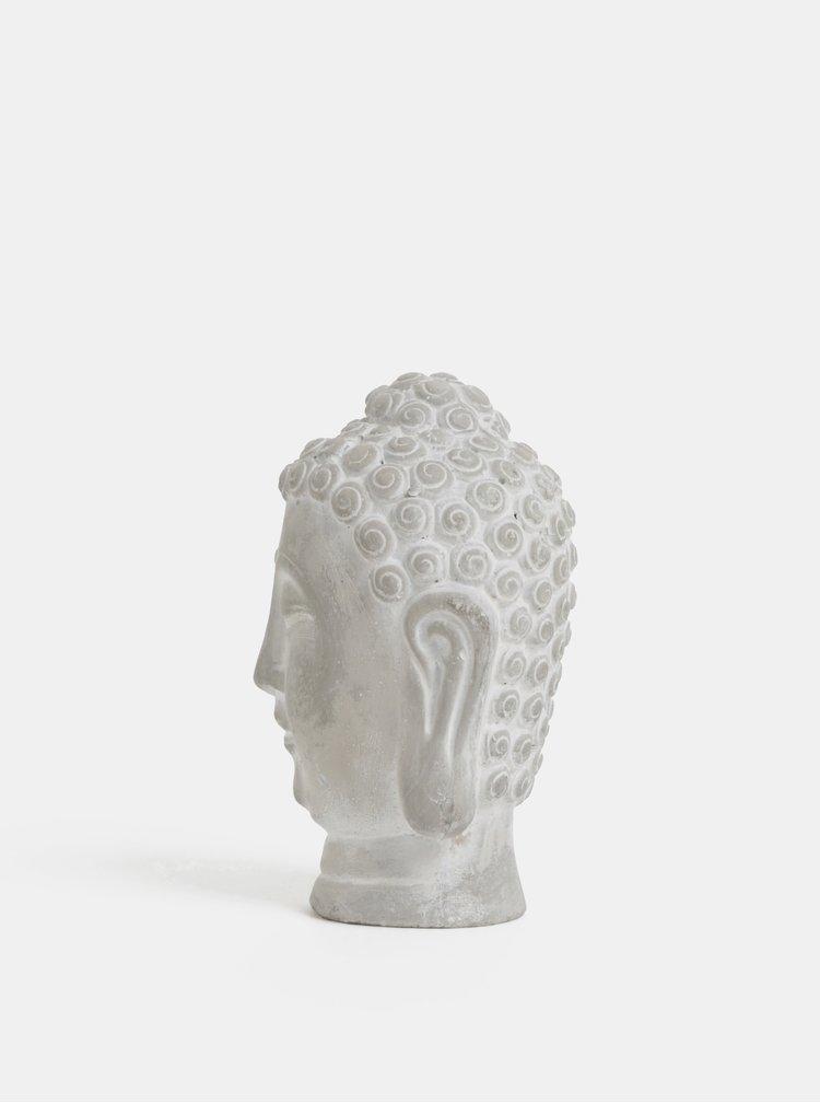 Šedá betonová busta Buddhy Dakls