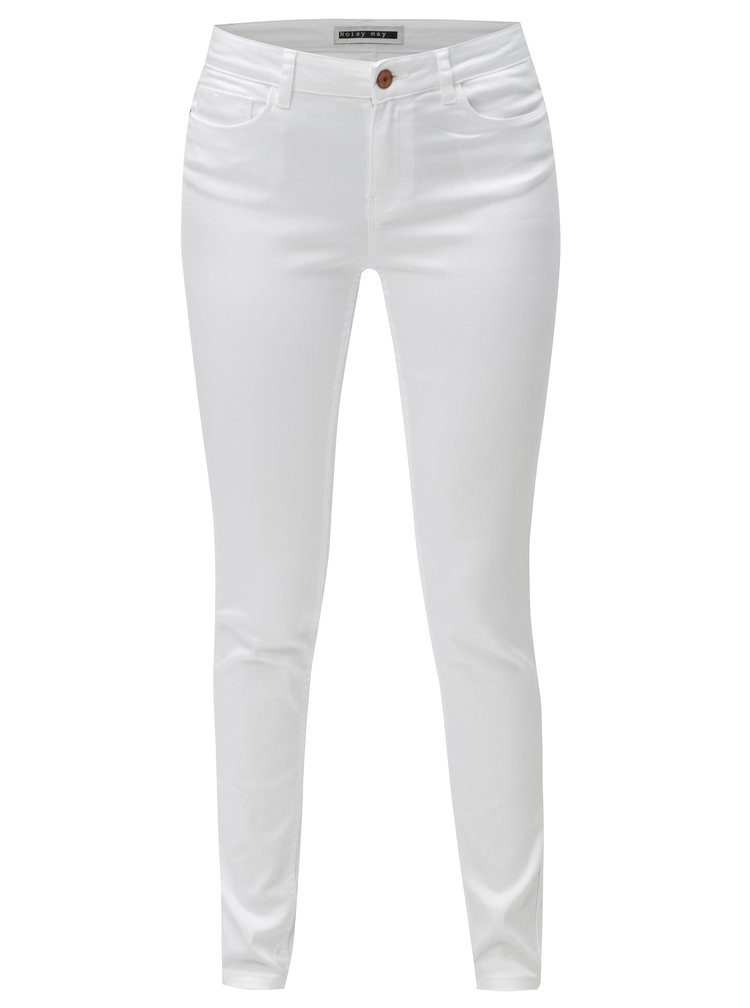 Bílé skinny džíny Noisy May