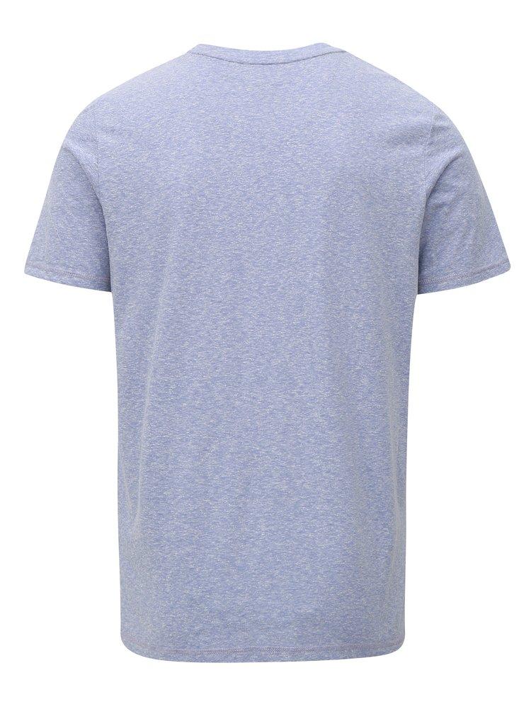 Modré žíhané tričko s potiskem Jack & Jones