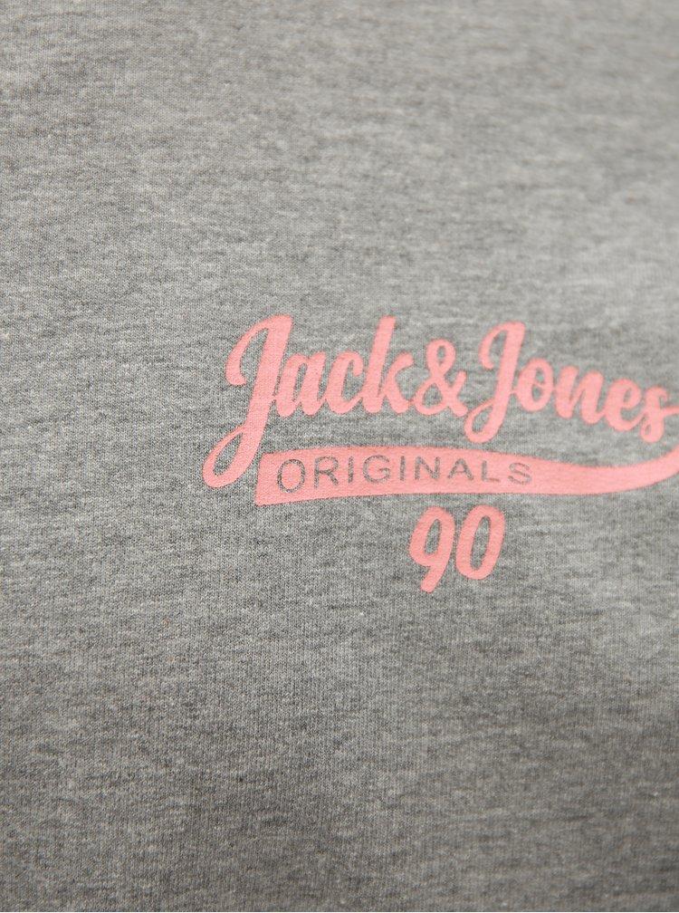 Světle šedá žíhaná mikina Jack & Jones
