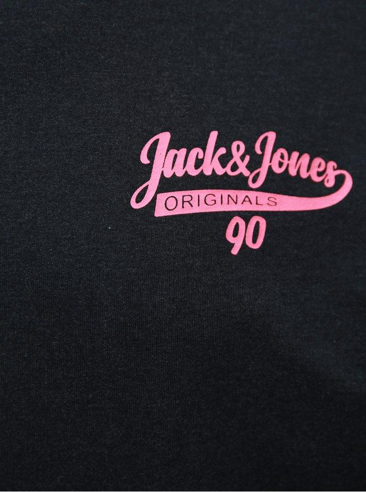 Tmavě modrá žíhaná mikina Jack & Jones