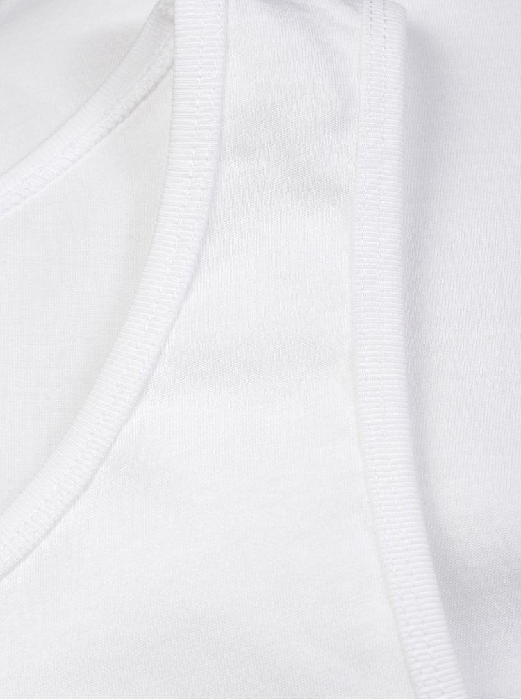 Súprava dvoch basic tielok v bielej farbe Jack & Jones