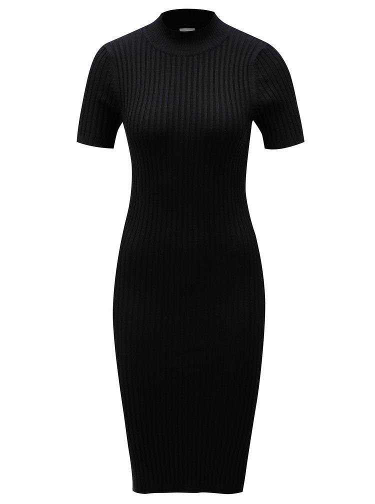 Černé pouzdrové šaty se stojáčkem Noisy May Paci