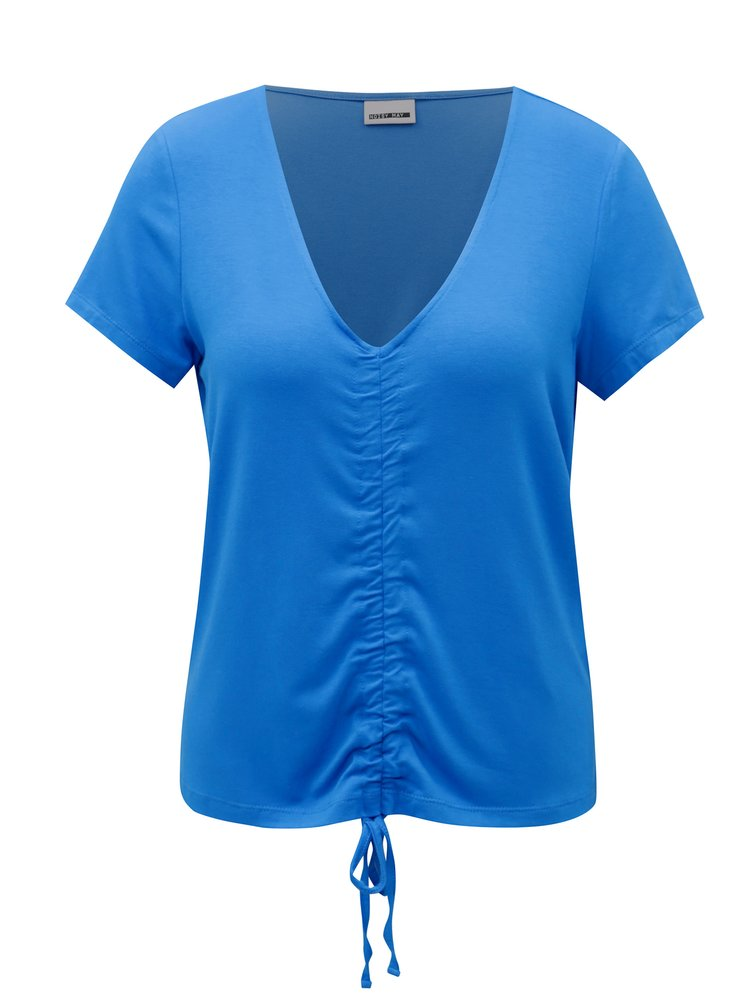 Modré tričko se stahováním v přední části Noisy May Milo
