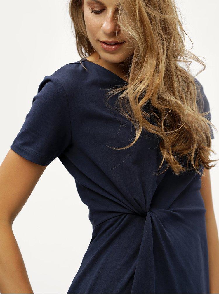 Tmavě modré šaty s uzlem Jacqueline de Yong Domino