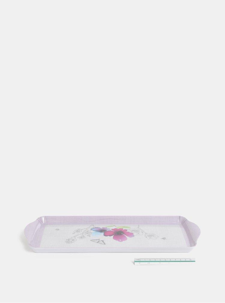 Světle fialový malý tác s květovaným motivem Cooksmart