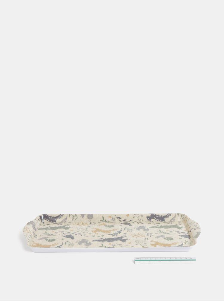 Béžový malý tác s motivem lesních zvířat Cooksmart