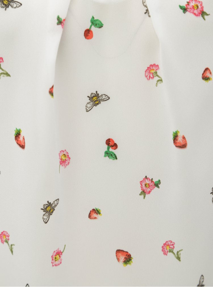Bílá vzorovaná halenka Billie Blossom