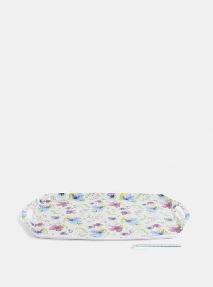 Bílý tác s květovaným motivem Cooksmart
