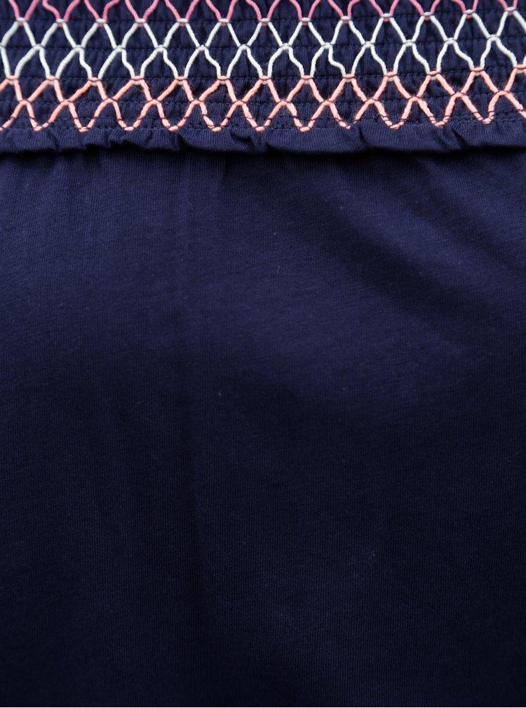 Tmavě modrý overal s odhalenými rameny Dorothy Perkins