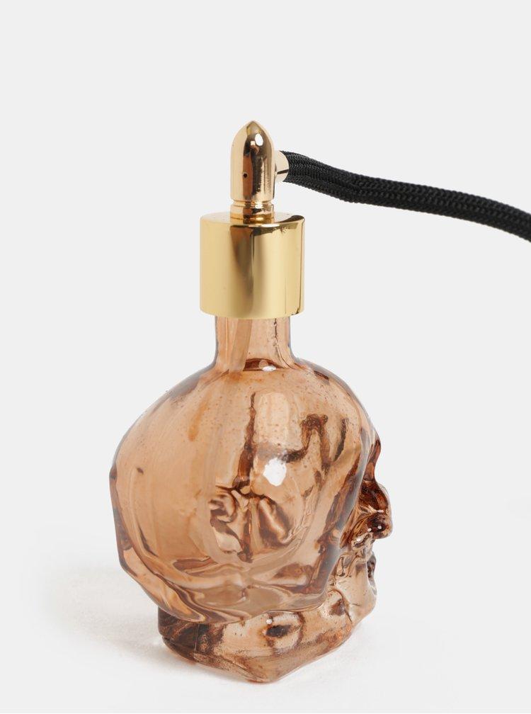 Hnědá lahvička na voňavku ve tvaru lebky Temerity Jones