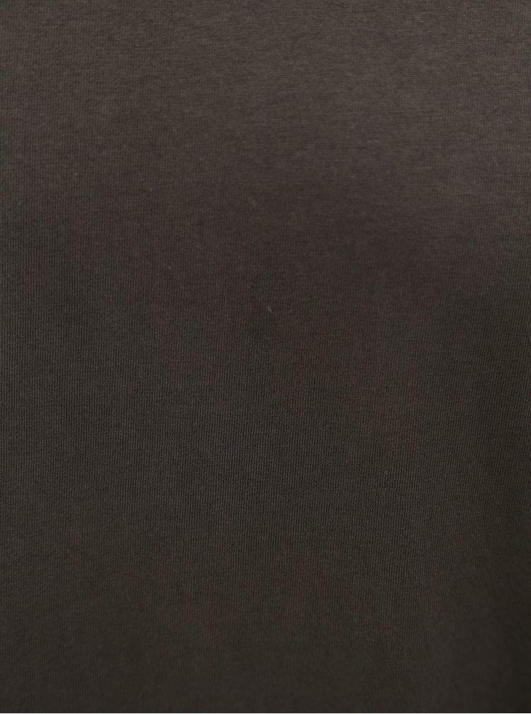 Tmavě šedé pánské tričko s kulatým výstřihem Stanley & Stella