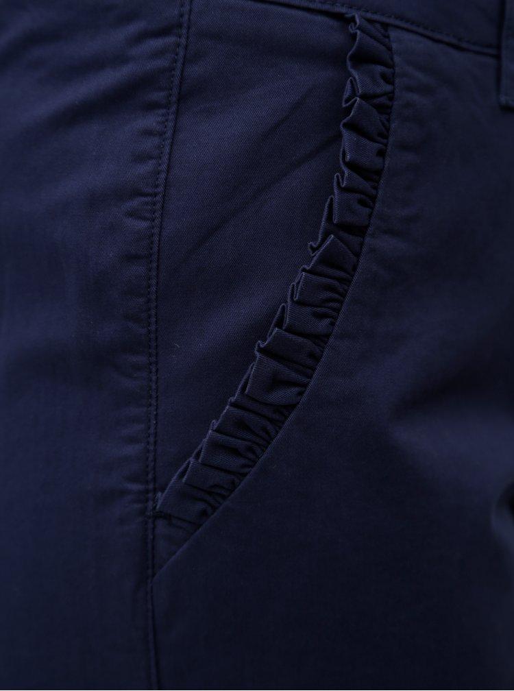 Tmavě modré 3/4 chino kalhoty