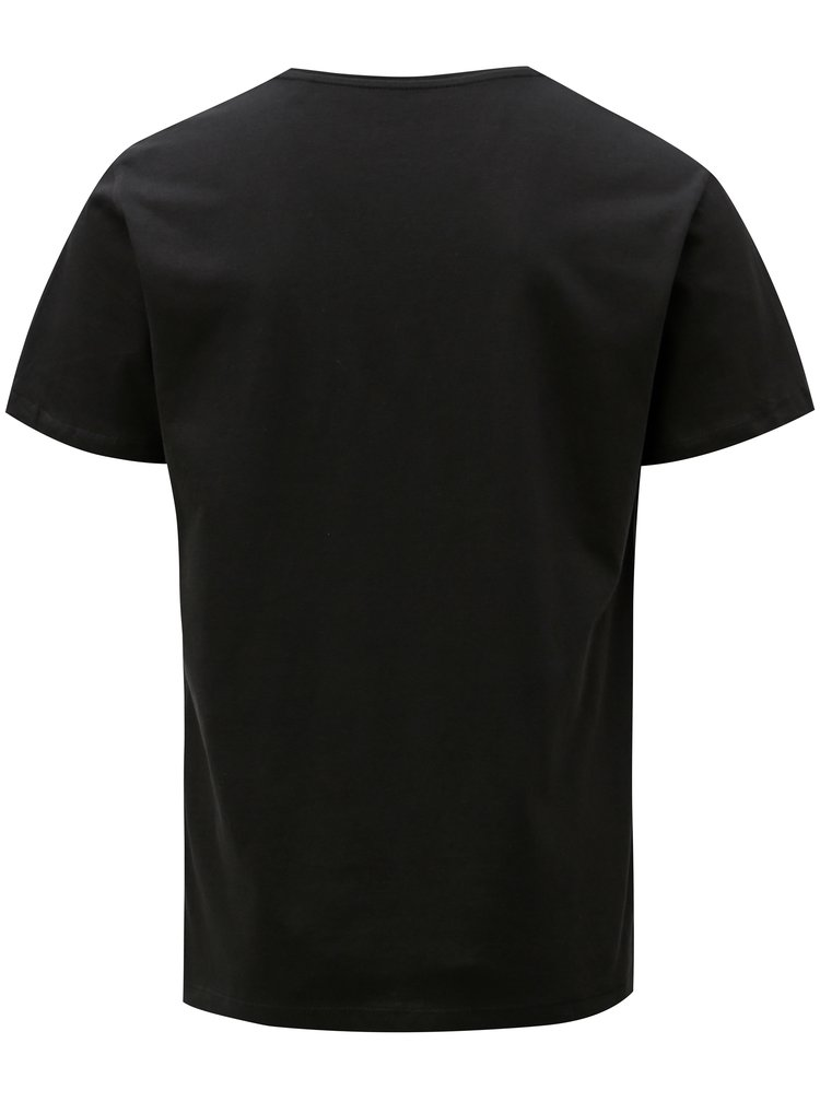 Černé pánské tričko s véčkovým výstřihem Stanley & Stella