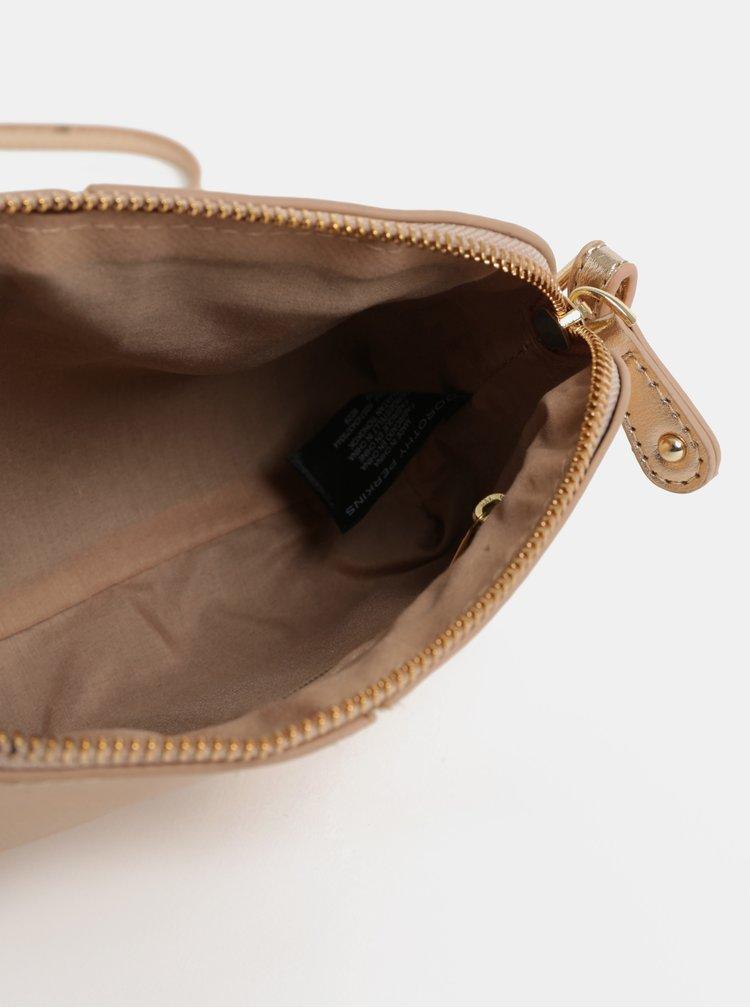 Růžovozlatá malá kabelka Dorothy Perkins