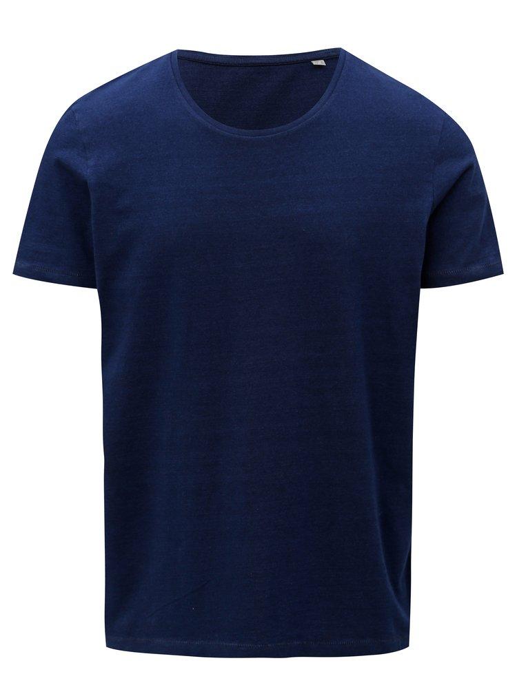Tmavě modré pánské tričko s krátkým rukávem Stanley & Stella
