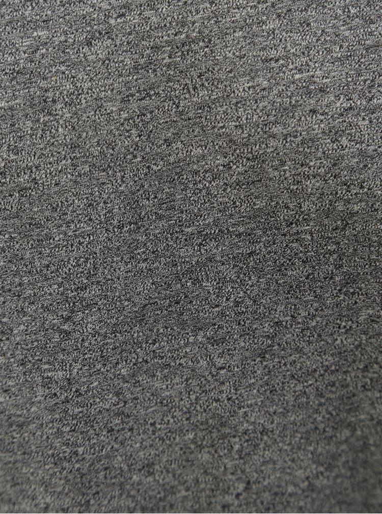 Tmavě šedé pánské žíhané basic tričko Stanley & Stella