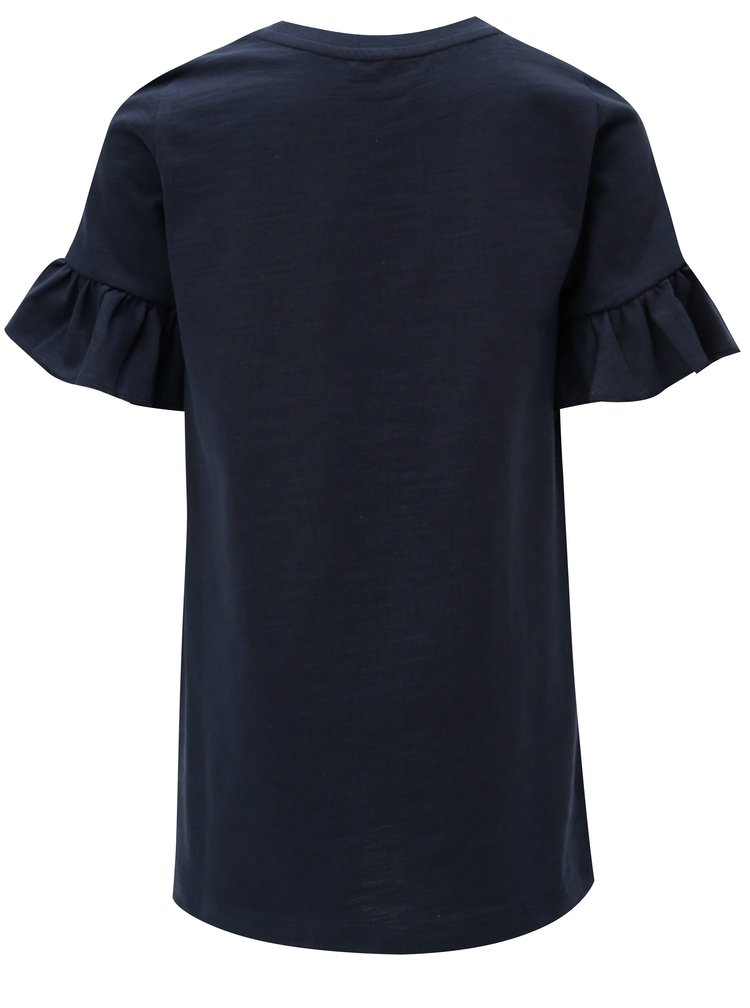 Modré holčičí šaty s volány na rukávech name it Ville