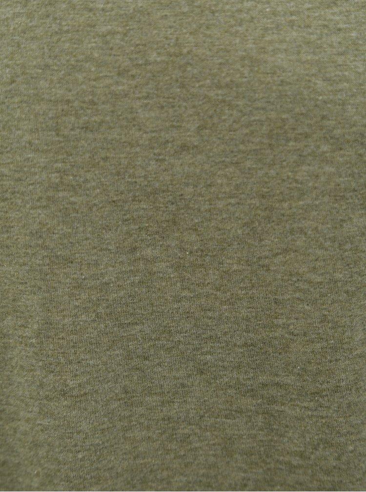 Khaki pánské žíhané basic tričko Stanley & Stella