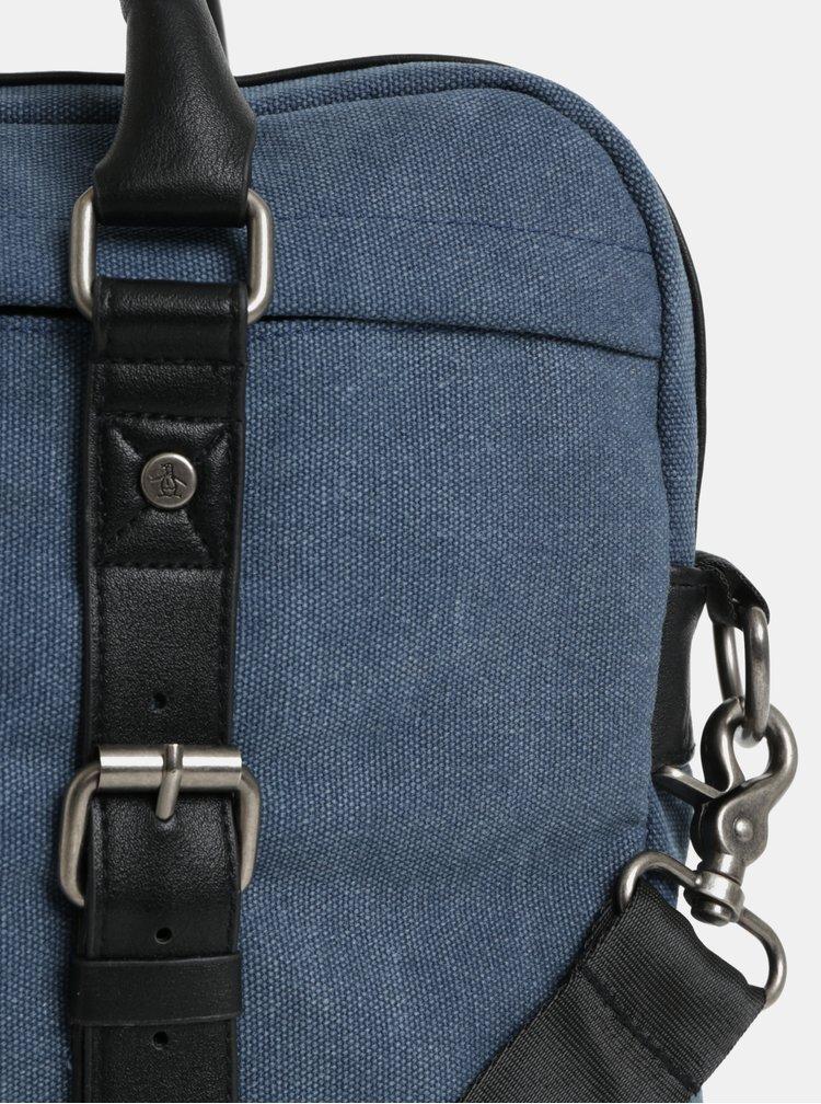 "Tmavě modrá taška na notebook Original Penguin Tides Document Bag 15"""