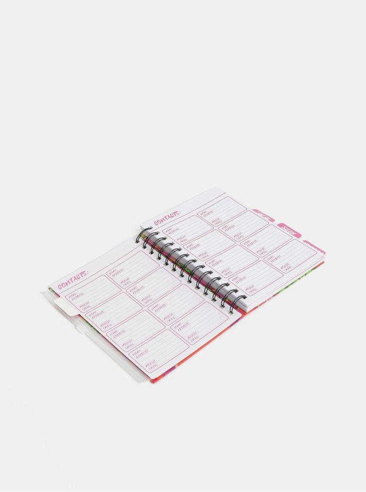 Organizator verde-roz cu imprimeu flamingo SIFCON