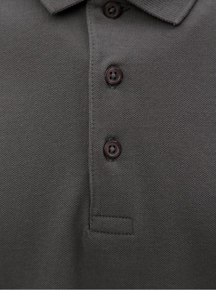 Tmavě šedé pánské polo tričko Stanley & Stella