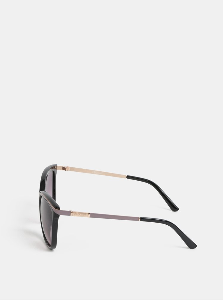 Ochelari de soare negri cu detalii mov Gionni
