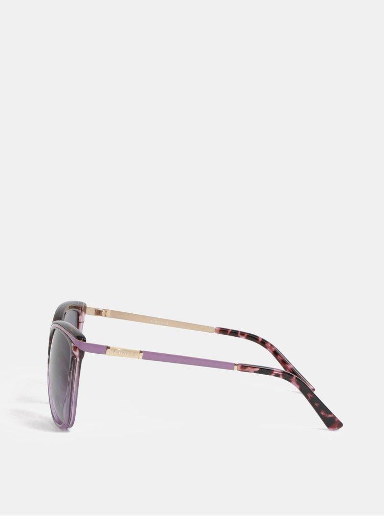 Ochelari de soare mov cu model Gionni