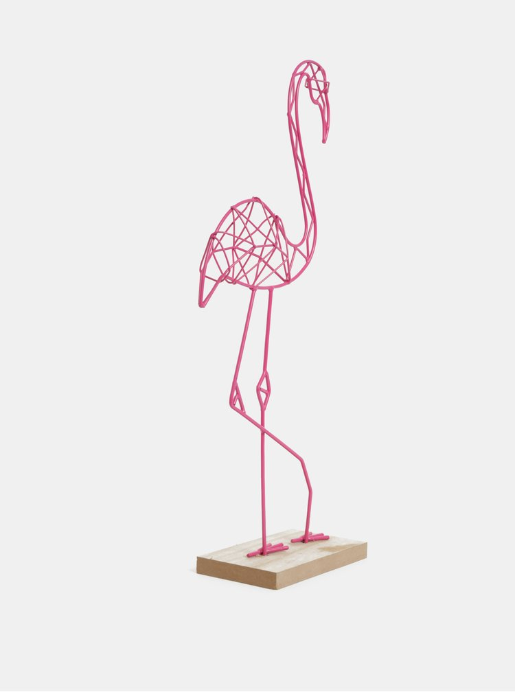 Růžová dekorace ve tvaru plameňáka SIFCON
