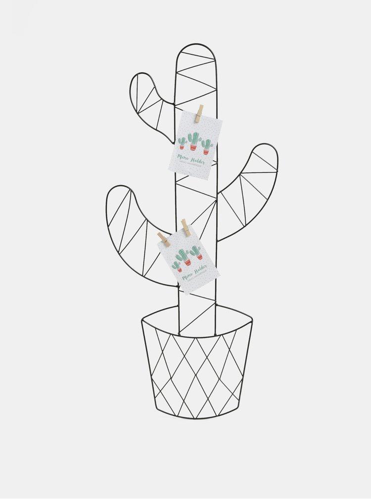 Černý držák na fotky ve tvaru kaktusu SIFCON
