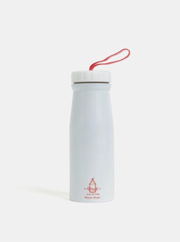 Bílá termoska s potiskem Disaster 350 ml