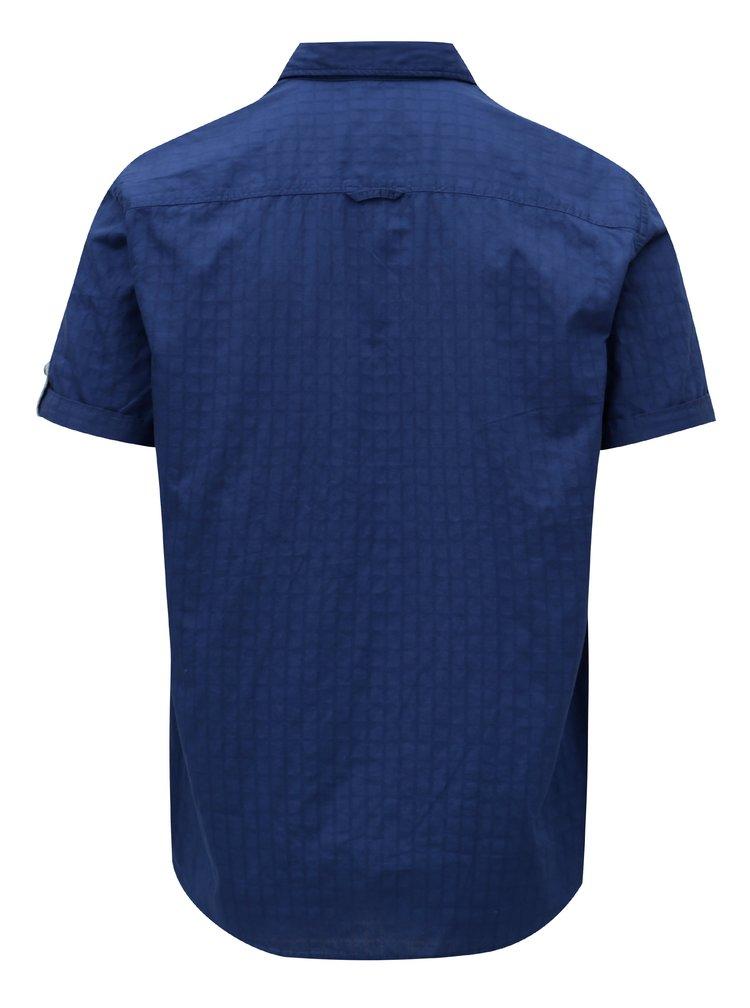 Modrá pánská regular fit košile s krátkým rukávem s.Oliver