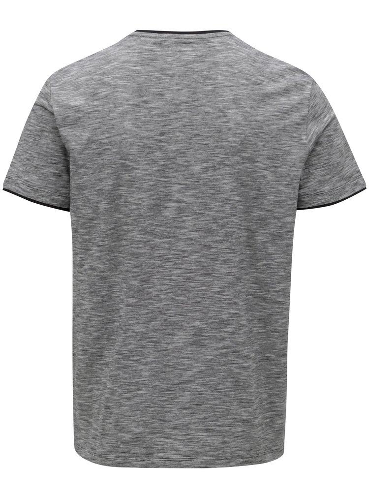Šedé pánské regular fit žíhané tričko s.Oliver