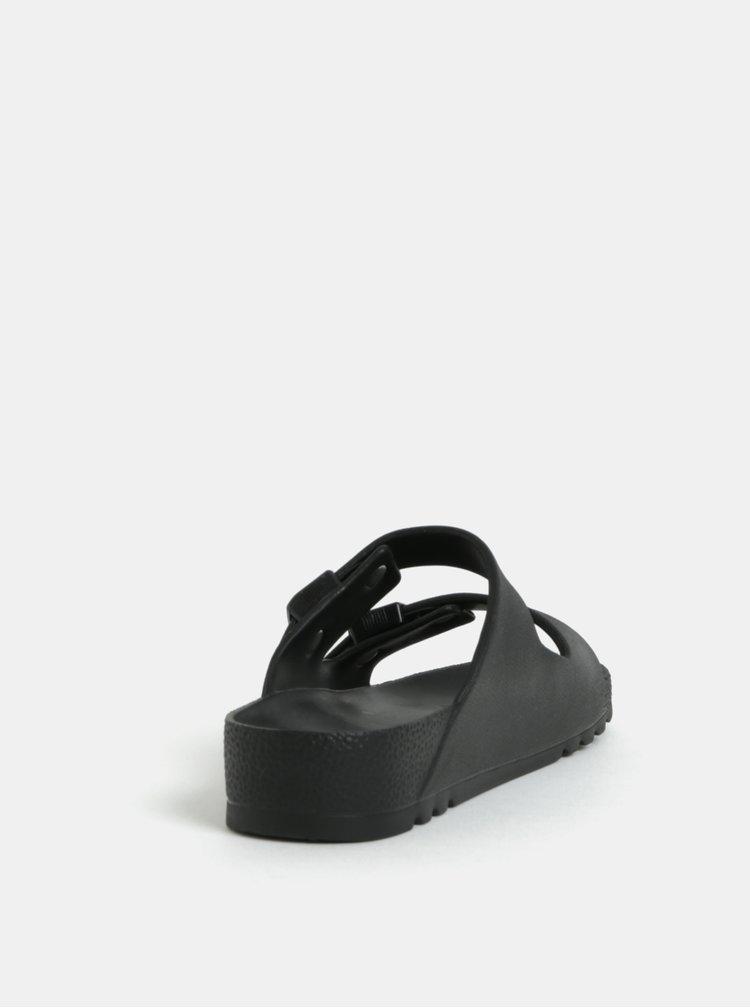 Černé dámské zdravotní pantofle Scholl Bahia
