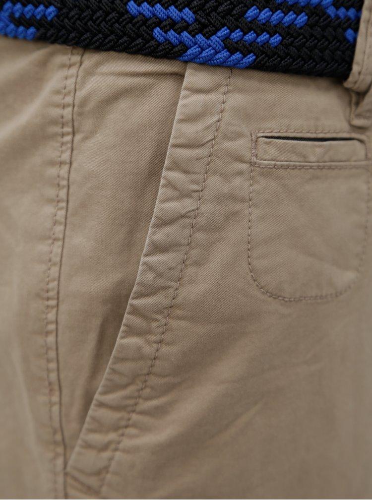 Pantaloni barbatesti scurti bej cu curea s.Oliver