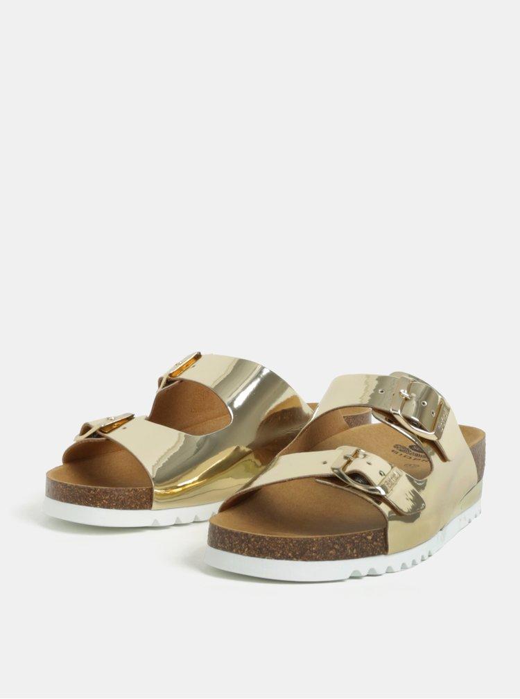 Dámské zdravotní pantofle ve zlaté barvě Scholl Glam