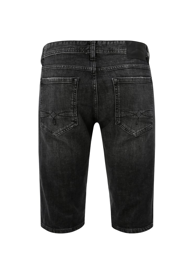 Černé pánské slim fit džínové kraťasy s.Oliver