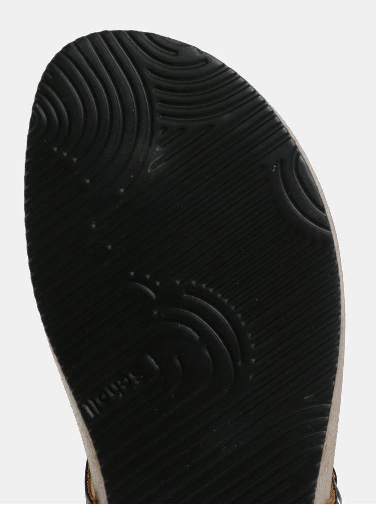 Tmavě šedé dámské metalické zdravotní žabky Scholl Gandia