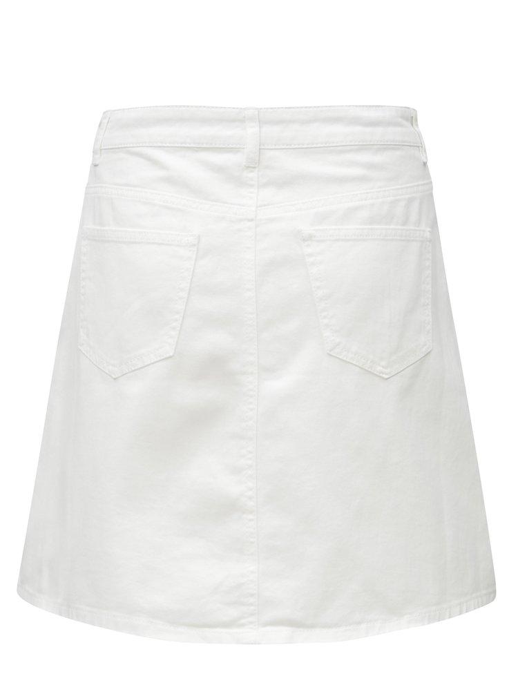 Bílá džínová sukně s knoflíky Noisy May Sunny