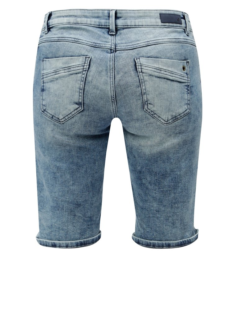 Pantaloni de dama albastri scurti regular fit din denim s.Oliver