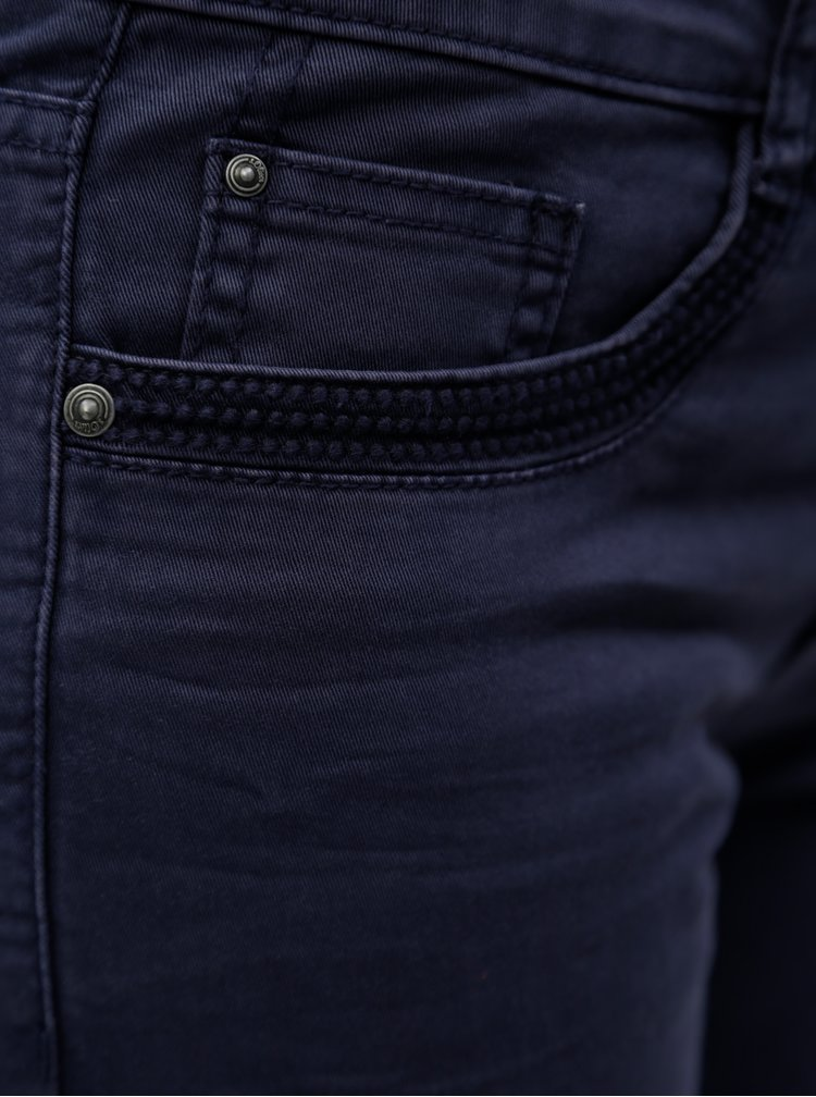 Modré zkrácené dámské slim fit džíny s.Oliver