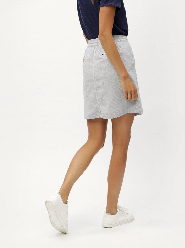 Světle modrá lněná sukně s elastickým pasem s.Oliver