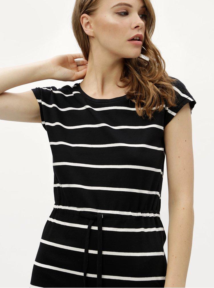 Bílo-černé pruhované šaty Haily´s Olivia